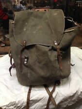 1940s Swiss Army Backpack Rucksack Green Canvas WWII Camping Hiking Survival Mil