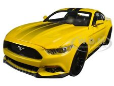 2016 FORD MUSTANG GT 5.0 YELLOW LIMITED 1002pc 1/18 MODEL CAR BY AUTOWORLD AW229