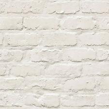 Ideco Home Blanc Papier Peint Brique A10402