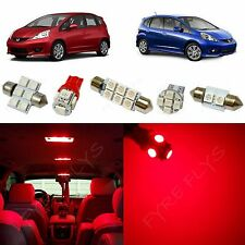6x Red LED lights interior package kit for 2009-2013 Honda Fit HF1R