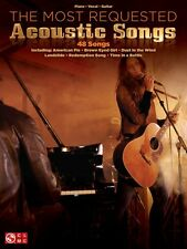 The Most Requested Acoustic Songs Sheet Music Piano Vocal Guitar SongB 000001518