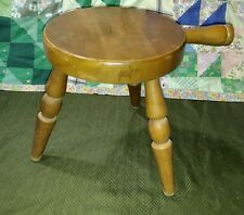 "VTG ANTIQUE AUTHENTIC FURNITURE PRODUCTS CALIF. WOOD 12"" HANDLED BENCH STOOL"
