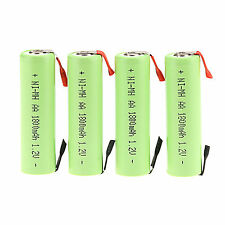 Lot of 4PC 1.2V AA 1800mAh Ni-MH Rechargeable battery for  Electric Shaver razor