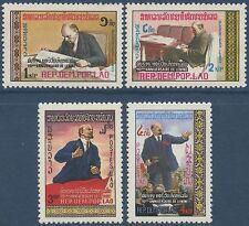 LAOS N°350/353** Lénine TB, 1980, Lenin SC#325-328 MNH