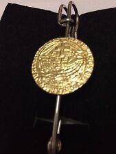 "Richard III Gold Angel Coin WC53 Scarf Brooch and Kilt Pin Pewter 3"" 7.5 cm"