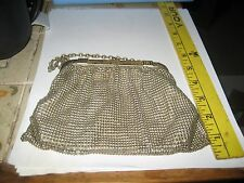 VINTAGE WHITING & DAVIS SILVER TONE MESH PURSE/HANDBAG/SILVER PLATED/MADE IN USA
