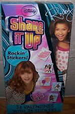 Valentines Day Cards ( Box of 34) Disney Shake It Up with Stickers
