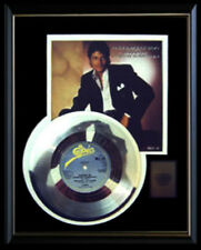 MICHAEL JACKSON WANNA BE STARTING SOMETHING GOLD RECORD PLATINUM DISC 45 RARE