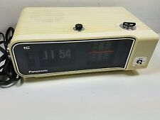 Panasonic RC-6003 Flip Alarm Clock AM/FM Radio Vintage Works Great           T-2