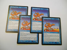 4x MTG Shrieking Drake-Draghetto Urlante Magic EDH VIS Visioni ING-ITA x4
