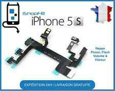 NAPPE BOUTON POWER ON/OFF IPHONE 5S+ FLASH + VOLUME + VIBREUR