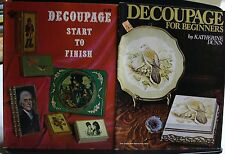 2 DECOUPAGE MAGAZINES, BOOKS, THE ROYAL CRAFT LIBRARY