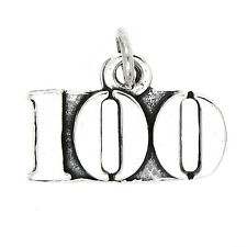 STERLING SILVER NUMBER 100 CHARM/PENDANT