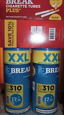 2 x  140 g Break Blue Zigarettentabak Tabak Volumentabak & 600 Hülsen