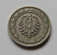 KAISERREICH: 20 Pfennig 1887 F, J. 6, sehr schön+, SELTEN !!!