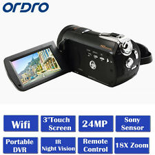 "ORDRO D395 1080P HD Digital Video Camera 24MP 18XZoom 3.0""Touch IR Night Vision"