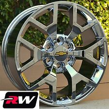 "2014 GMC Sierra Wheels Rims Chrome 20"" Replica Chevy Silverado Suburban Tahoe"