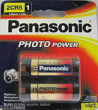 Panasonic 2CR5 Photo Lithium Battery Replaces Sanyo 2cr5 Battery 1 Pack