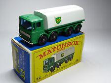 Lesney Matchbox 1-75 Regular Wheels 32c Leyland Tanker Silver Grille
