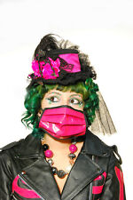 BIO HAZARD MASK PINK PVC cyber goth BURNING MAN FETISH