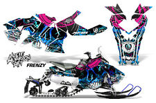 Sled Decal Wrap Polaris Axys Snowmobile Graphics Sticker Kit 2015+ FRENZY BLUE
