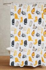 """New 71"""" Polyester Waterproof Cats Kitty White Bathroom Shower Curtain Hooks Cool"""