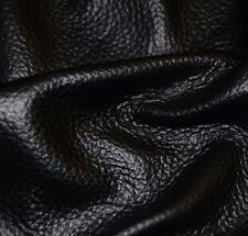 41.75 sf. Black negro 3 oz Furniture Upholstery Cow Hide Leather Skin A1Ld