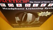 SPACETECH CORDLESS HEADPHONE LISTENING SYSTEM ~ ST-900  ,,,,  BRAN NEW IN BOX