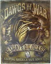 Vintage Replica Tin Metal Sign dawgs of war 1776 usa us military army navy 2148