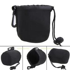 Universal Neoprene Waterproof Soft Pouch Bag Case for Video Camera Lens Black
