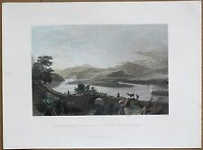 1836 Bartlett print JUNCTION OF TRIBUTARY STREAM WITH ORONTES; TURKEY (#8)