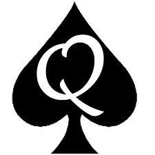 Queen Of Spades Temporary Tattoo QOS Fetish BBC Hotwife Cuckold Interracial