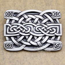 Celtic Irish Trinity Cross Knot Scottish Kilt Cowboy Rodeo Silver Belt Buckle