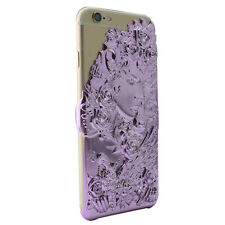 Apple iPhone 6S, 6 Luxury Case 3D Cover Angel Wing Lucky Star Purple