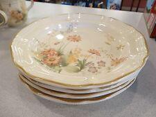 """VINTAGE SET OF 3 MIKASA  """"SAMANTHA""""  DINNER PLATES RETIRED LOOK UNUSED"""
