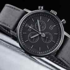 MENS DETOMASO MILANO CHRONOGRAPH WATCH MATT BLACK SWISS ISA MOVEMENT NEW £159