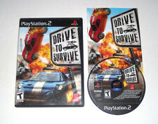 Drive To Survive Playstation 2 PS2 Game 2006 Complete Black Label Racing Rare
