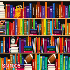 BOOKCASE LIBRARY INDOOR 10x10 FT CP PHOTO SCENIC BACKGROUND BACKDROP SN1006