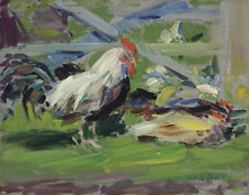 Cadell Boileau Campbell Francis Cockerel In A Farmyard Print 11 x 14     #4832