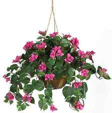 Nearly Natural Bougainvillea Hanging Basket Flower Decor Artificial Silk Plant