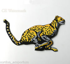CHEETAH BIG CAT NOVELTY EMBROIDERED PATCH 4 INCHES