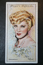 Mae West  1930's Original Paramount Film Star Portrait Card