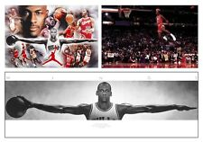 THREE DOPE INDIVIDUAL MICHAEL JORDAN POSTERS ICONIC BASKETBALL LEGEND PRICECUT
