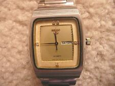 VINTAGE SEIKO AUTOMATIC/MANUAL WIND DAY/DATE MID SIZE CREAM DIAL UNISEX