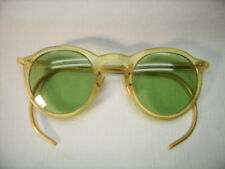 Vintage Tinted Safety Sun Glasses Bausch & Lomb Plastic and Wire Frame Steampunk