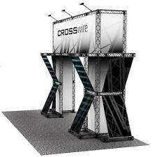 PORTABLE TRADE SHOW TRUSS DISPLAY 10' x 20' EXHIBIT BOOTH - CROSSWIRE EXHIBITS