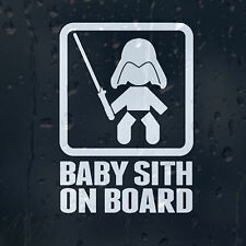 Baby Sith On Board Star Wars Car Decal Vinyl Sticker For Window Bumper Panel