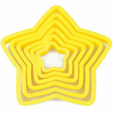 Fondant Cake Xmas Meal Stars Shape Cookie Cutters Mold Decor Tools Newest