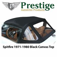 Triumph Spitfire Convertible Top Tops Roof 1971-1980 Black Canvas Fabric