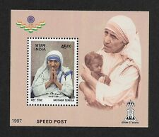 INDIA 1997 Mother Teresa miniature sheet MNH